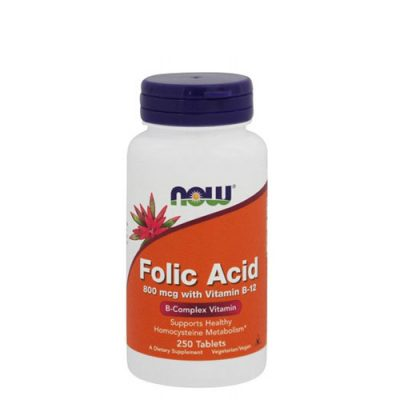 NOW: Folic Acid (800 мкг, 250 таб)