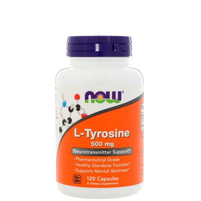 NOW: L-tyrosine (500 мг, 120 капс)