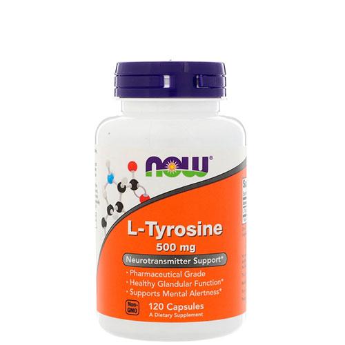 NOW: L-tyrosine (500 мг, 120 капс)