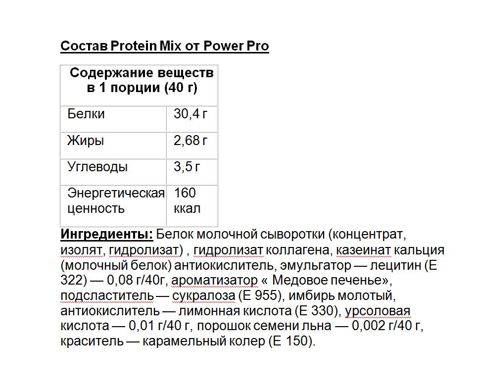 PowerPro Mix Protein 1000 g
