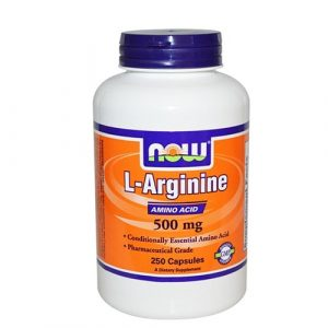 NOW L-Arginine 500 mg 250 caps