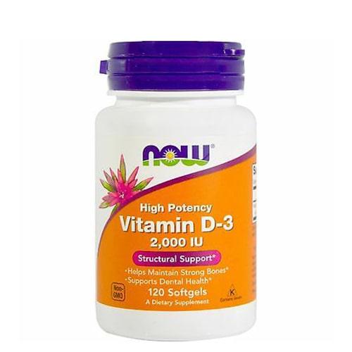 NOW Vitamin-D3 2000mg 120 caps