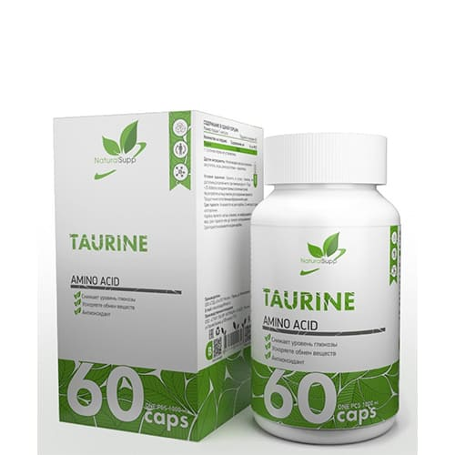 Natural Supp: Taurine (60 капс)