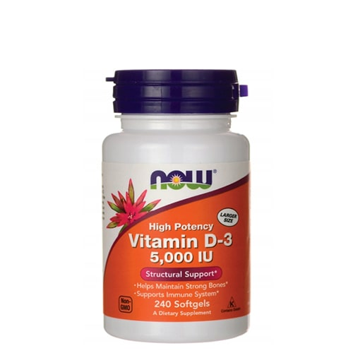NOW: Vitamin-D3 5000 IU (240 капс)